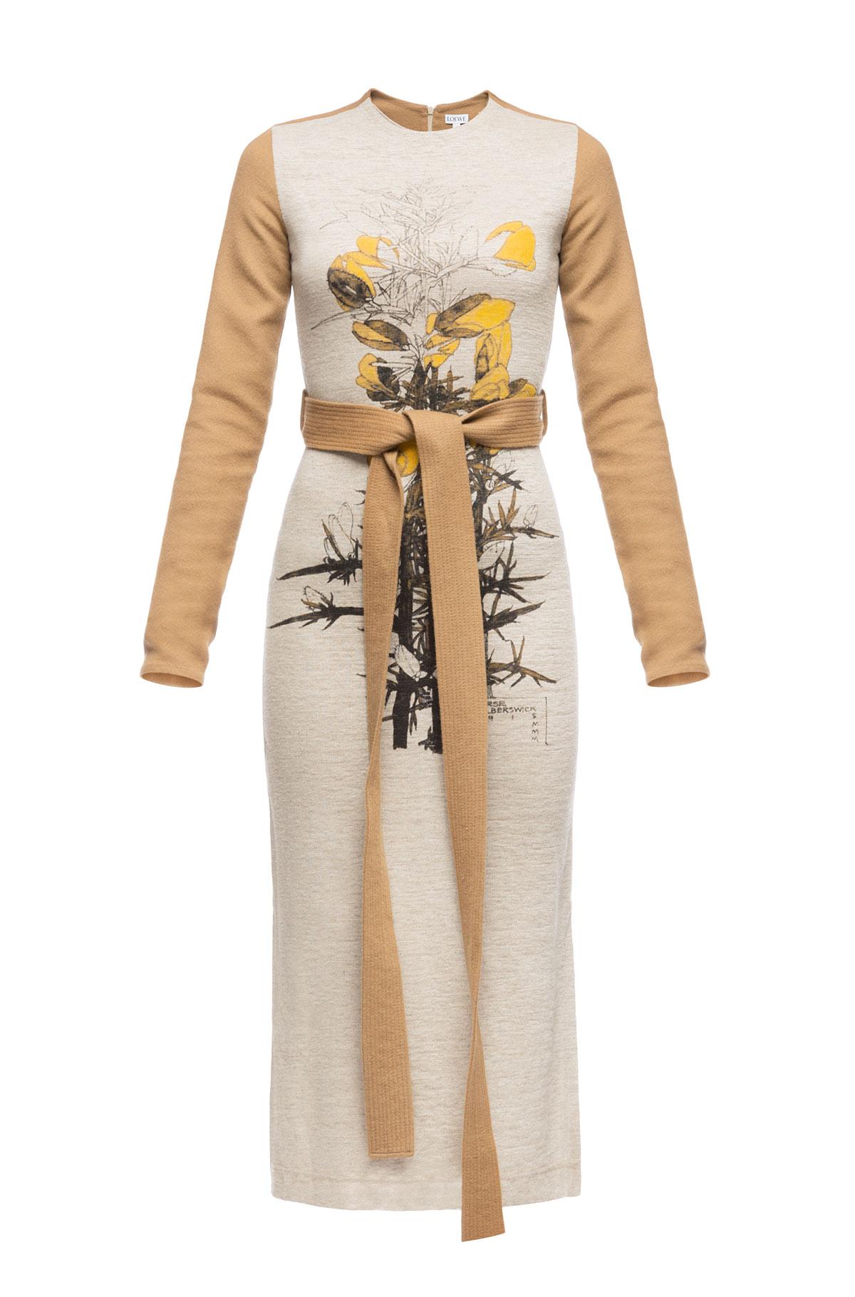 LOEWE T-Shirt Dress Botanical Beige/Camel front