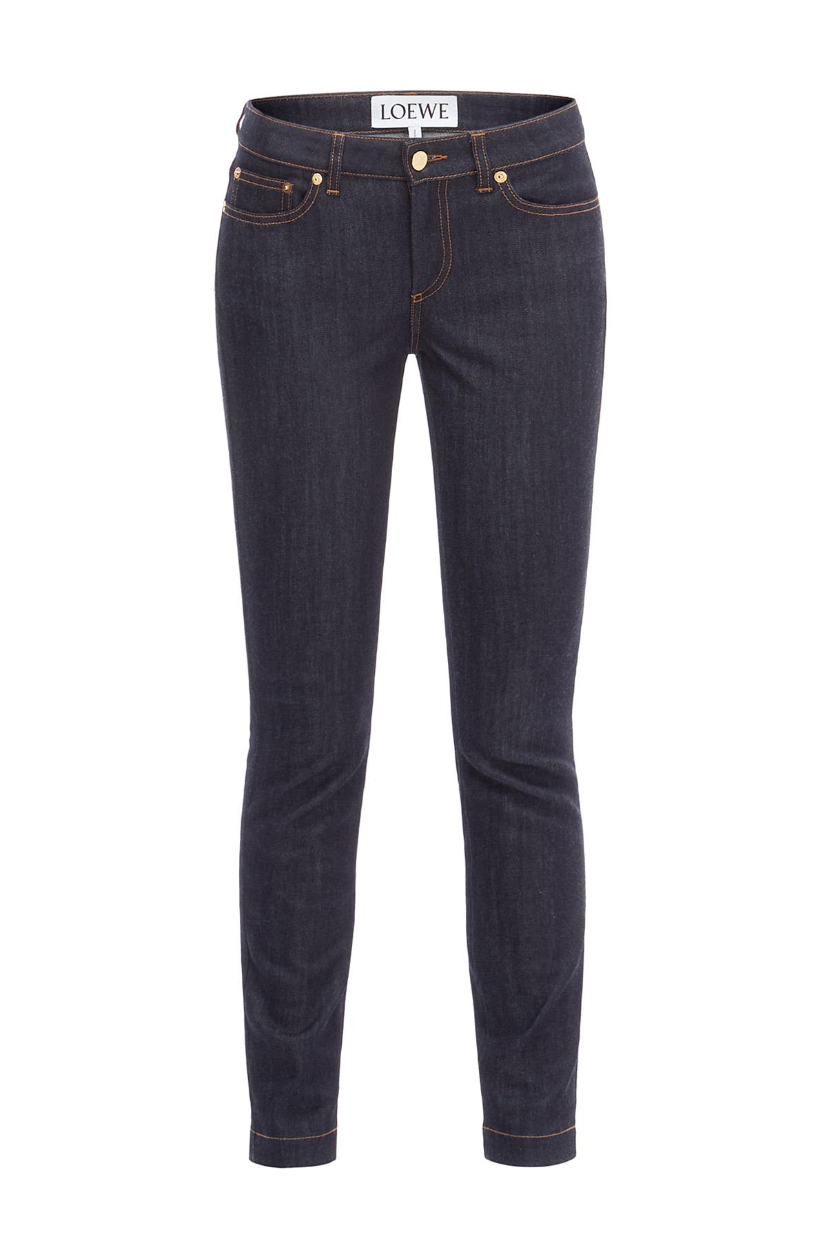 LOEWE Skinny Jeans Azul Denim Oscuro front