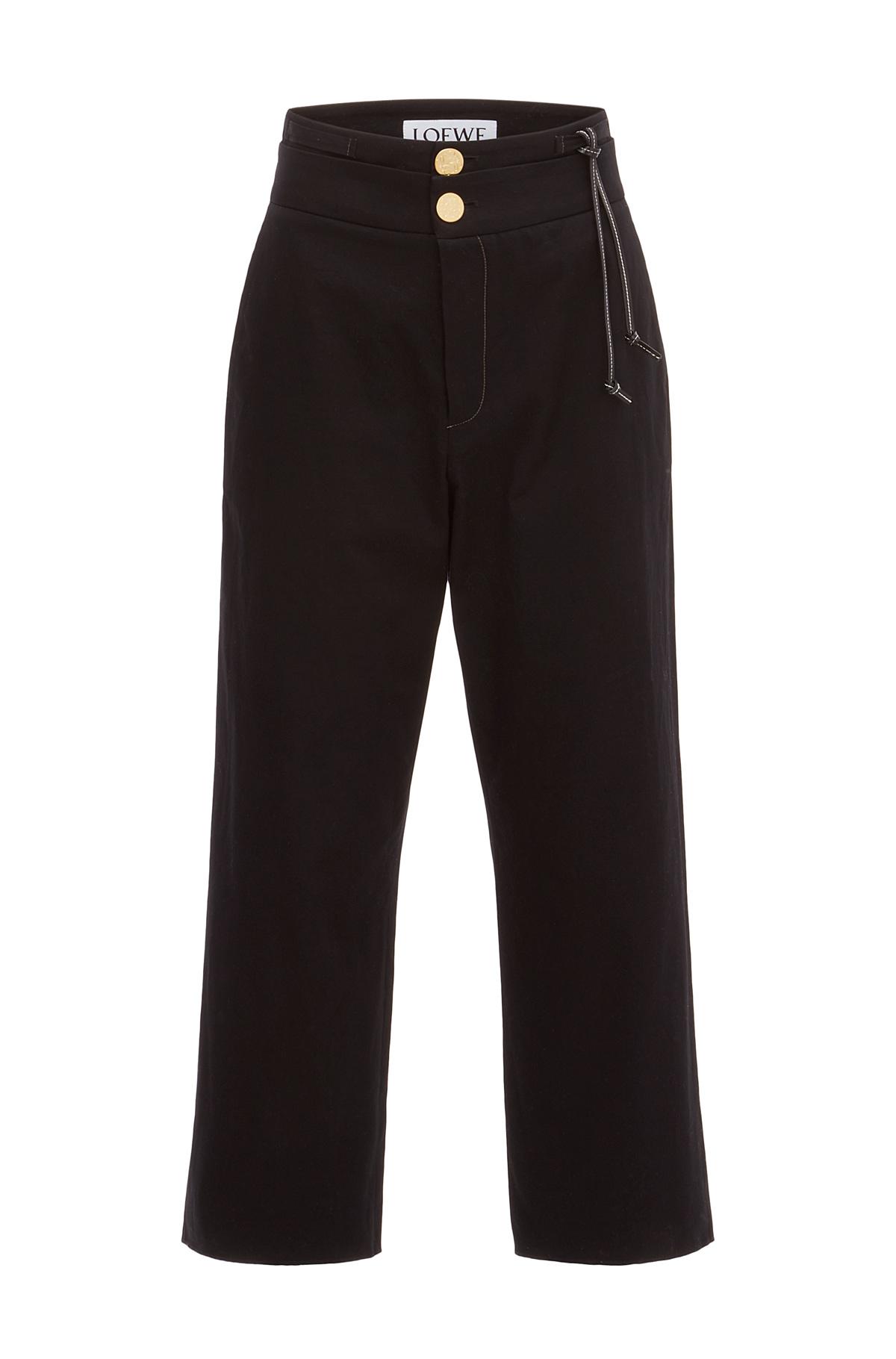 LOEWE Tassel Trousers Black front