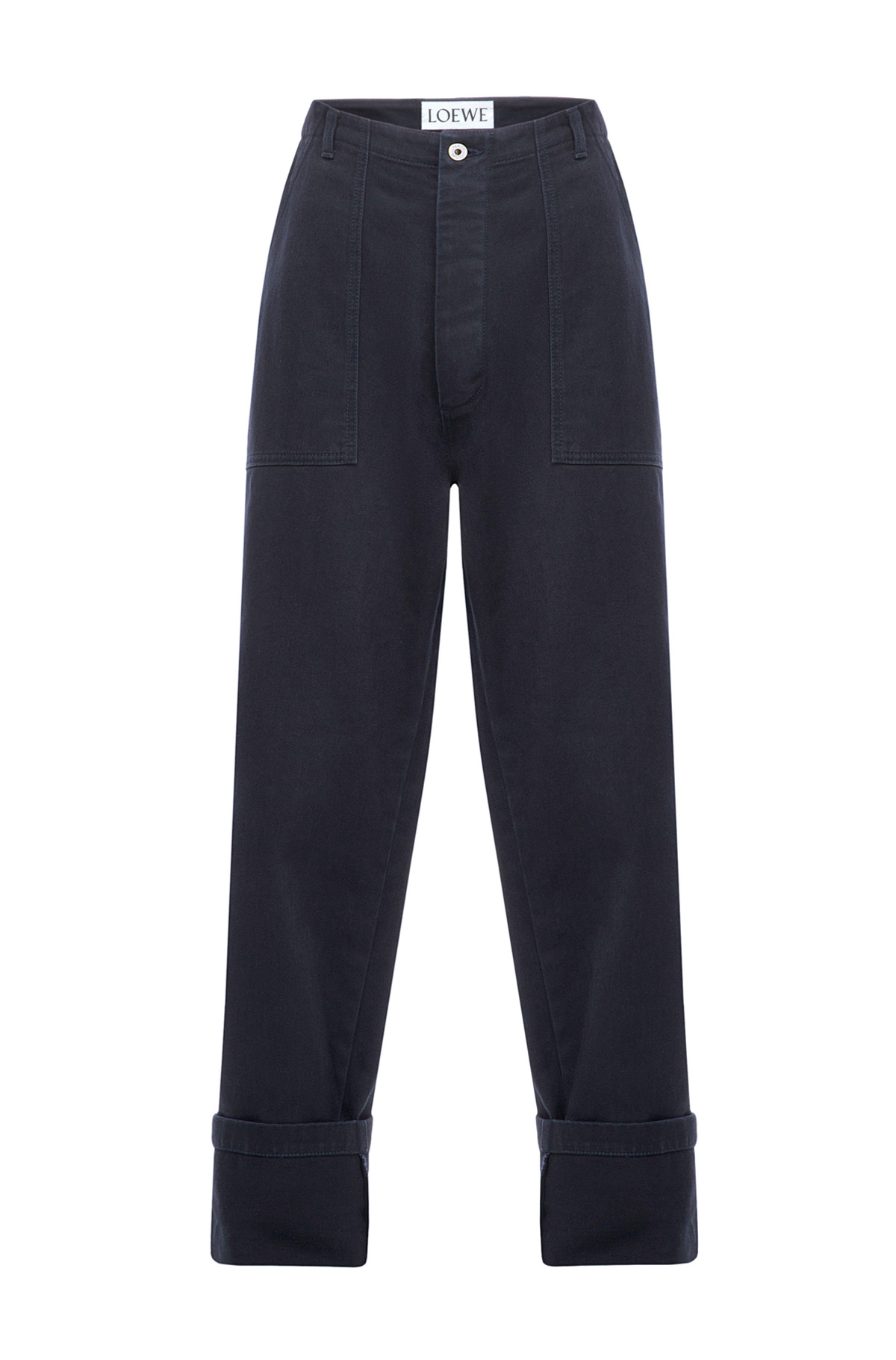 LOEWE Patch Pocket Trousers Dark Navy Blue front