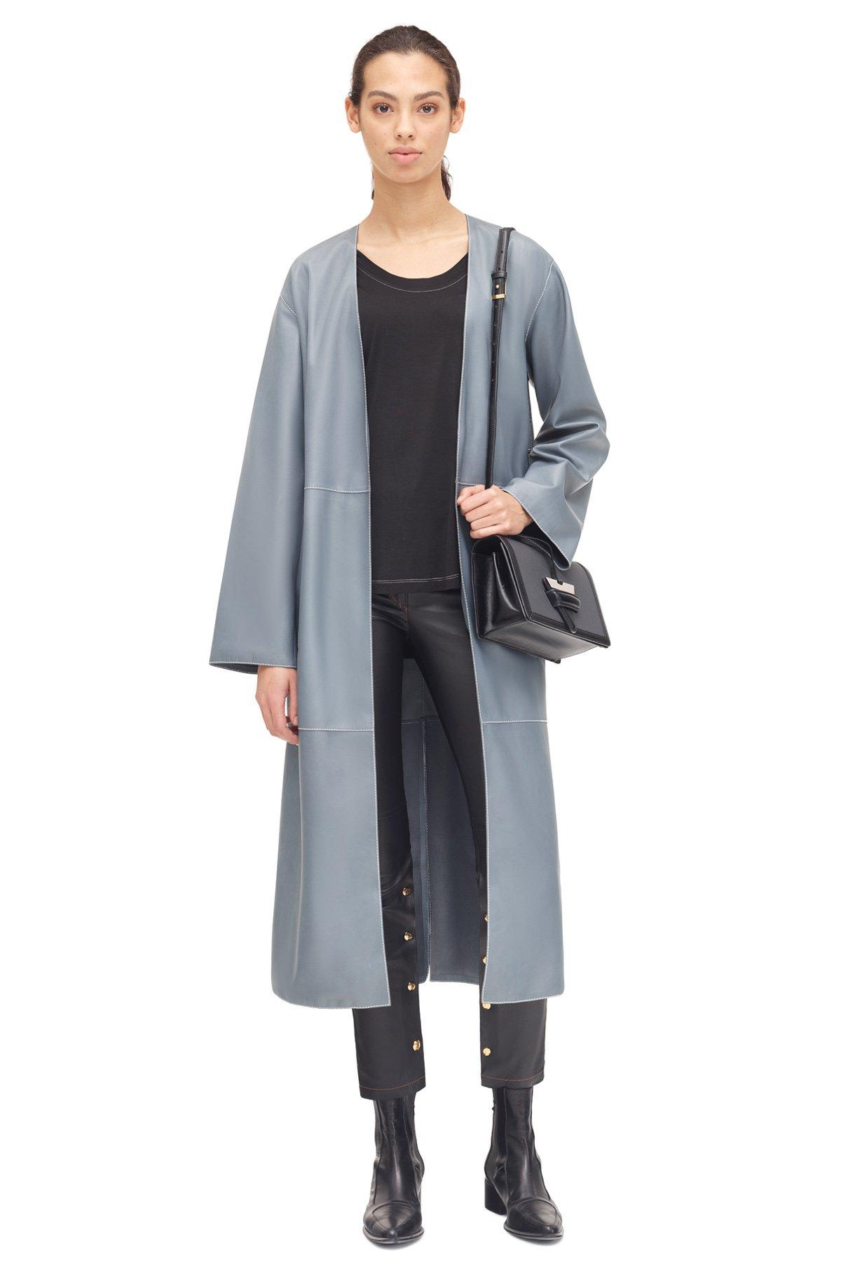 LOEWE Coat Japanese Blue front