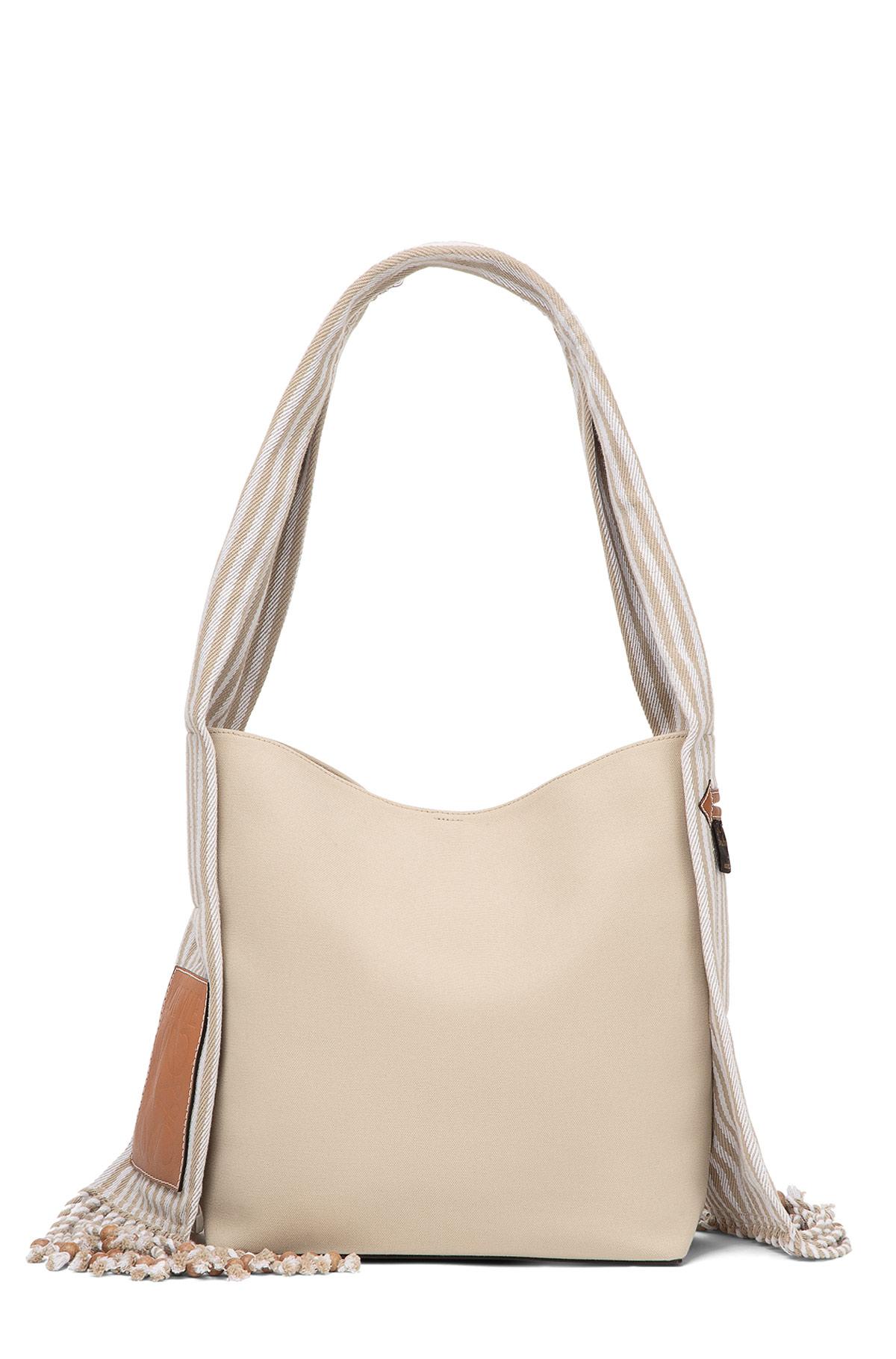 LOEWE Bucket Scarf Bag Natural/Tan front