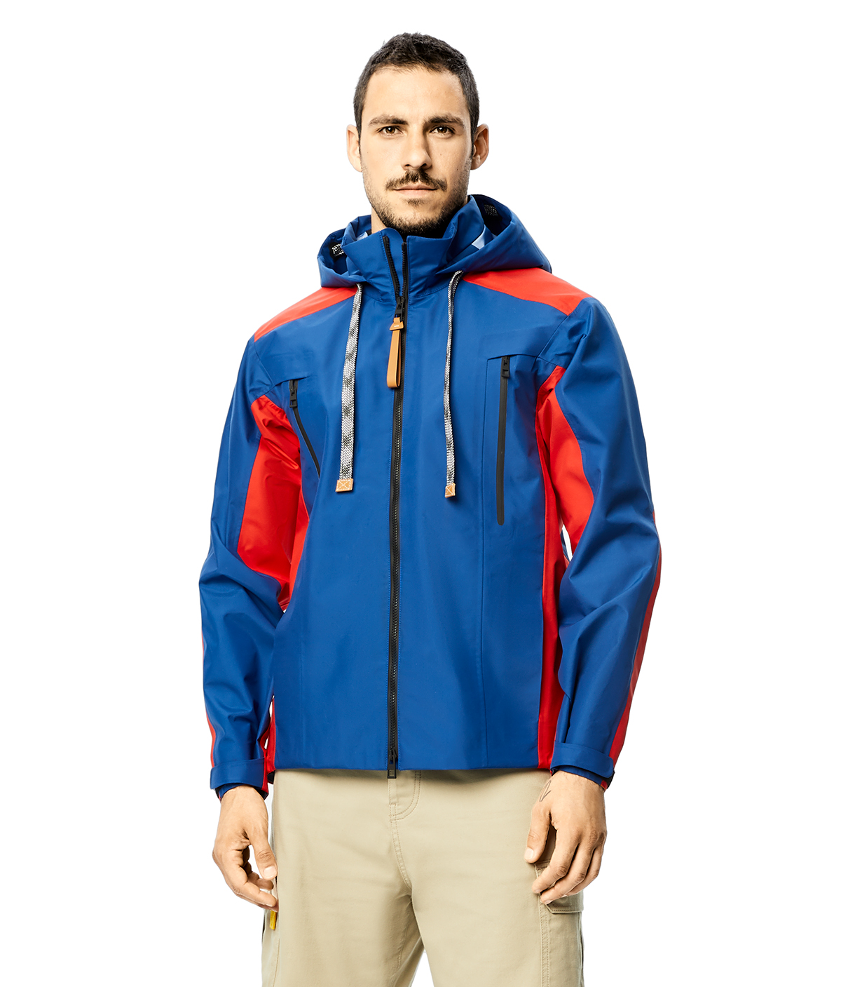 LOEWE Technical Parka Rojo/Azul front