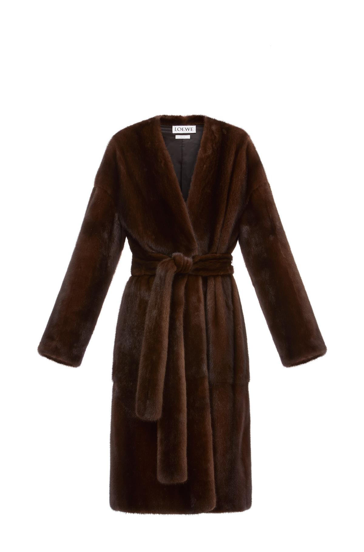 LOEWE Mink Coat Brown front