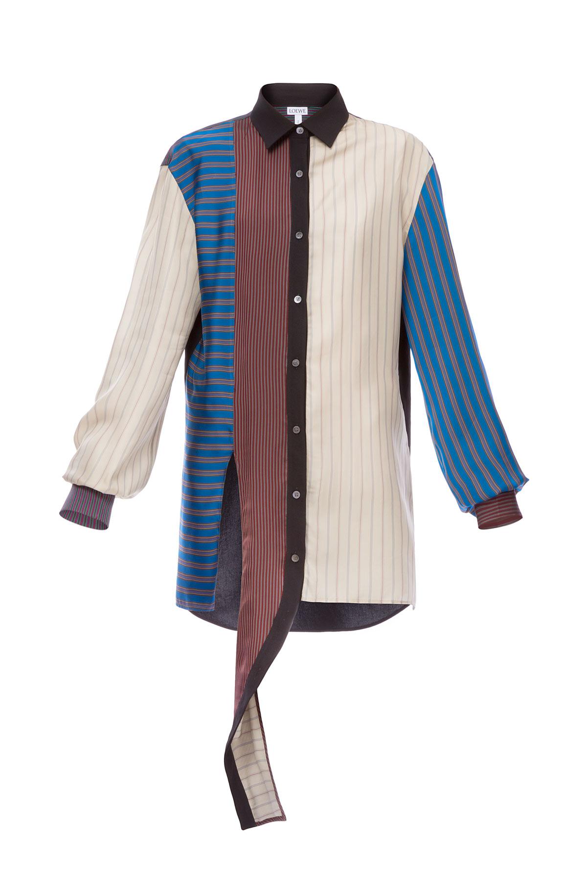 LOEWE Patchwork Stripe Shirt Multicolor front