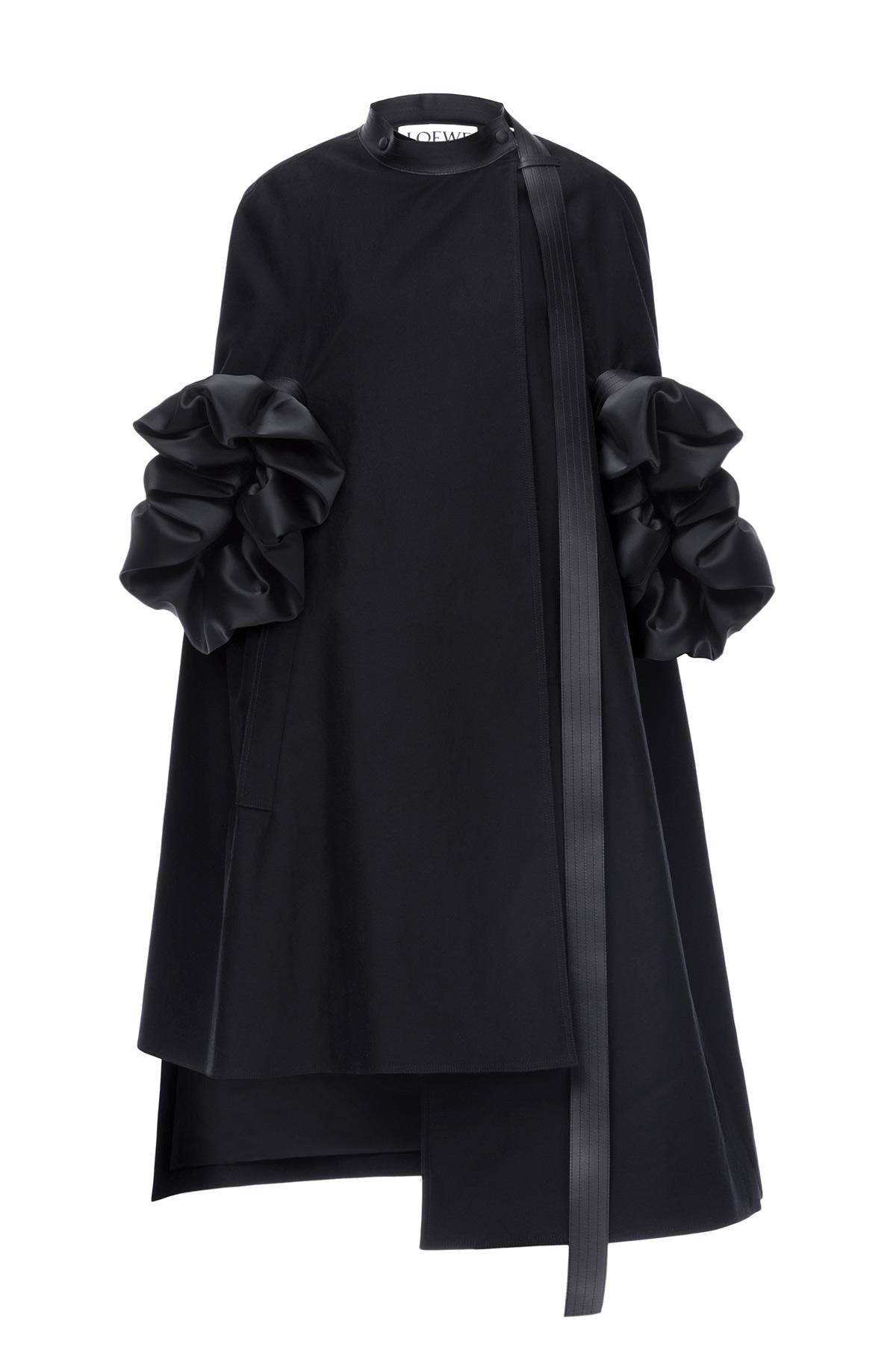 LOEWE Opera Coat With Detachable Sle Negro front