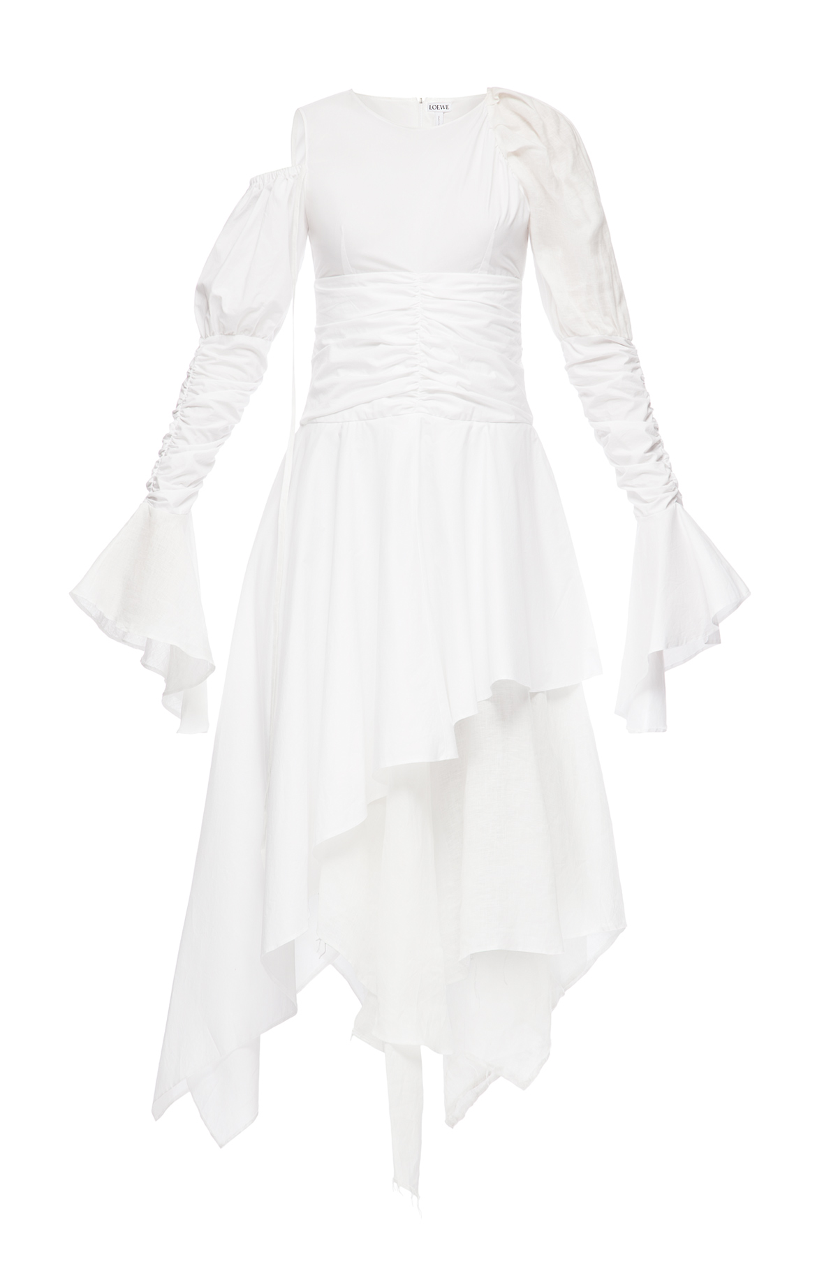 LOEWE Gathered Dress White front