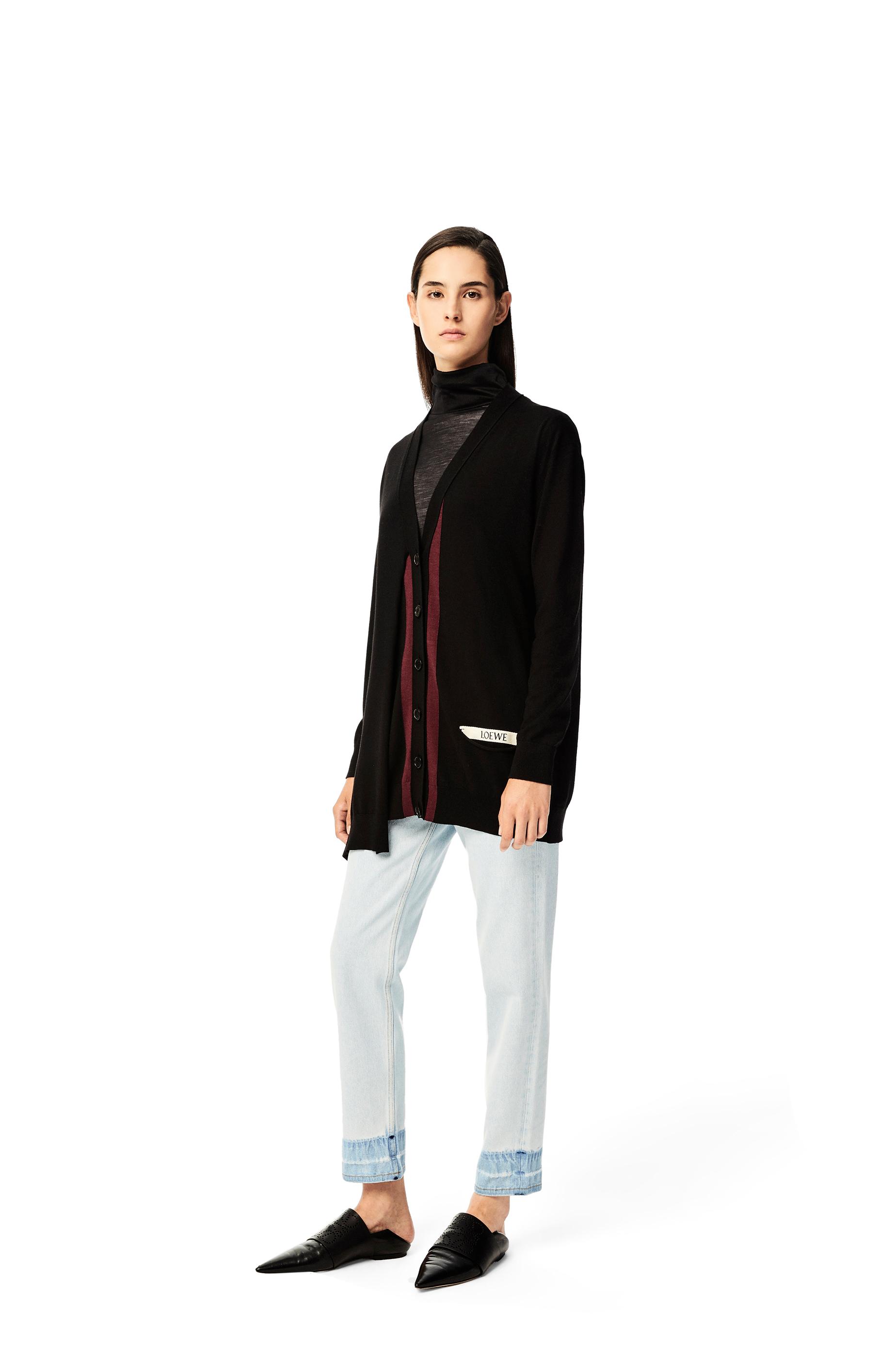 LOEWE asymmetric pocket cardigan in wool