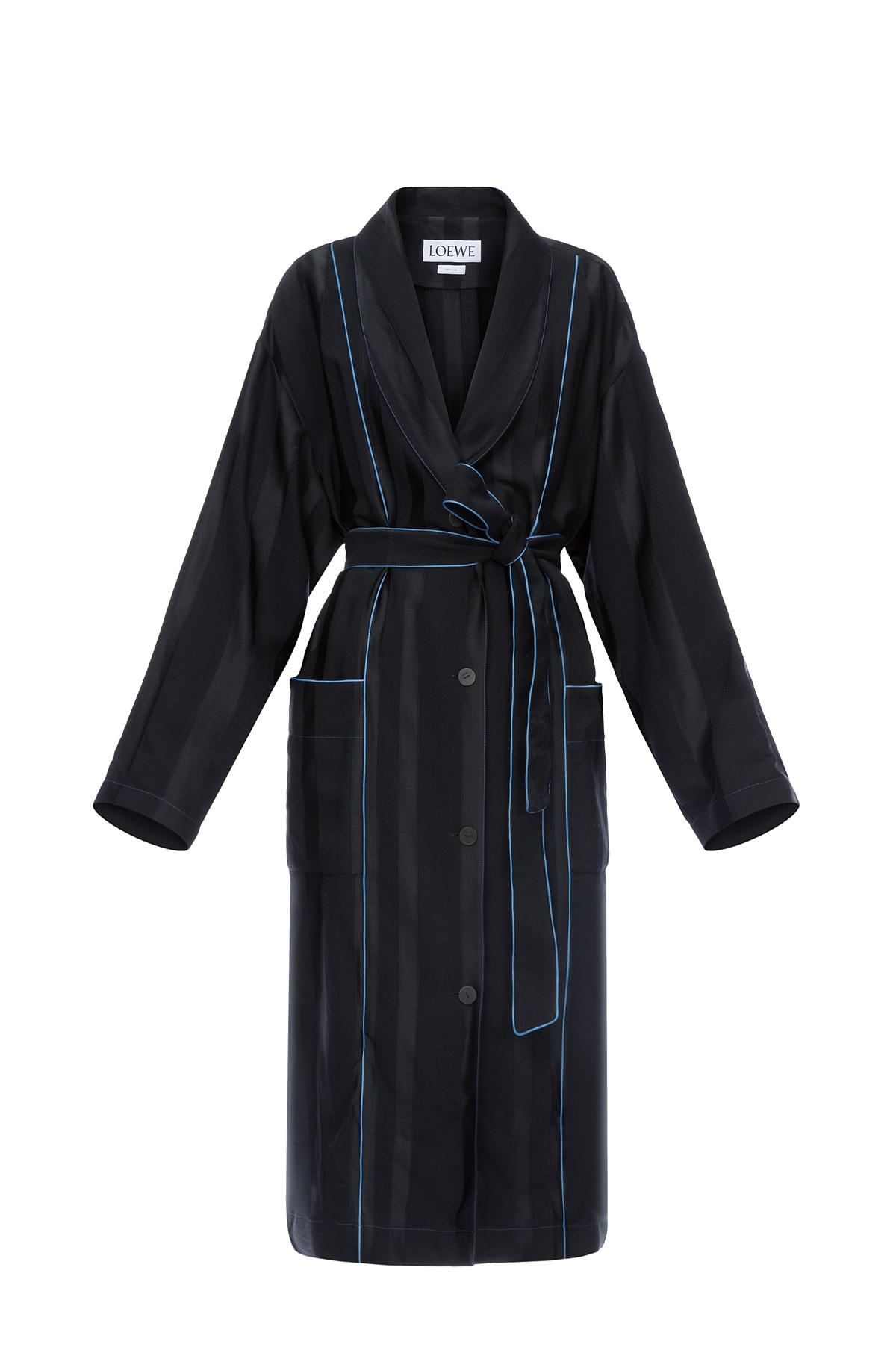 LOEWE Duster Coat Negro/Azul front