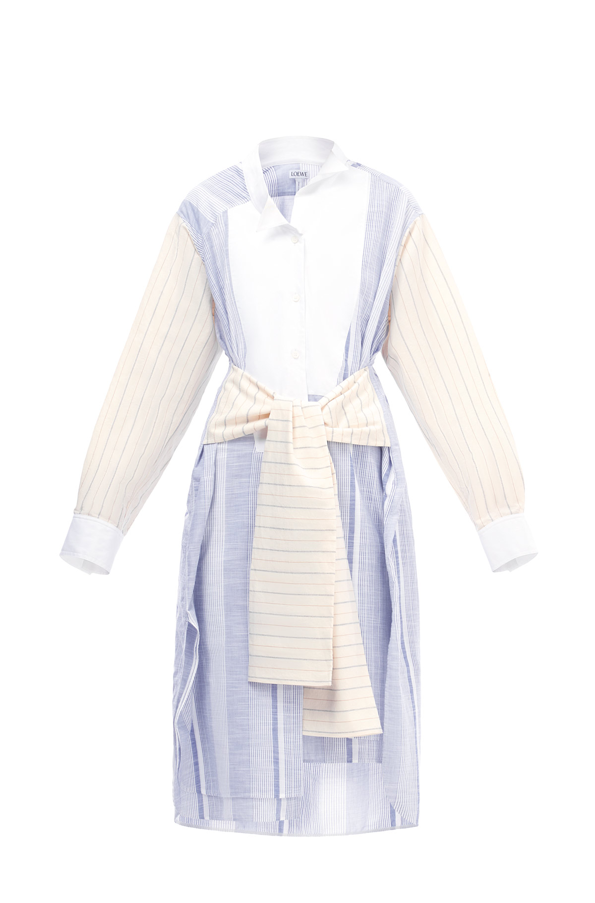 LOEWE Stripe Shirtdress Blue/White front