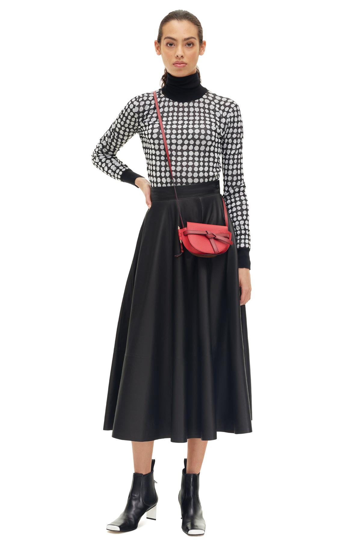LOEWE Falda Negro front