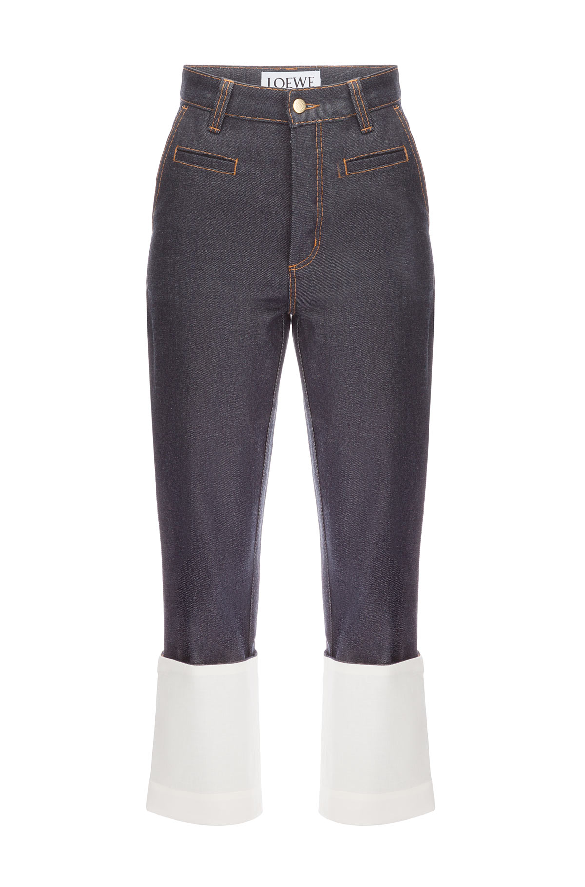 LOEWE Fisherman Contrast Stitching Dark Denim Blue front