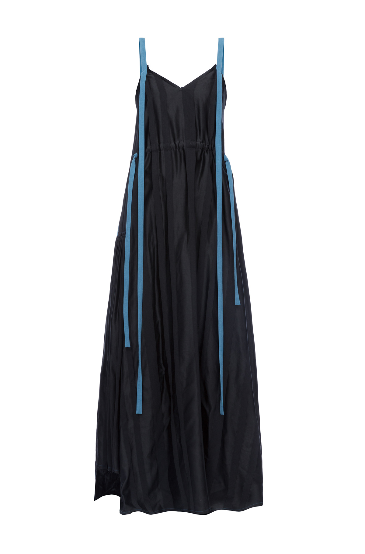 LOEWE Camisole Dress Blue Trims Black/Blue front