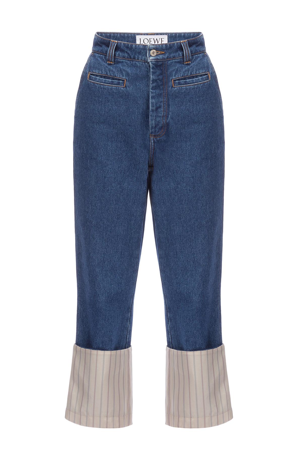 LOEWE Stripe Fisherman Jeans Blue/Beige front