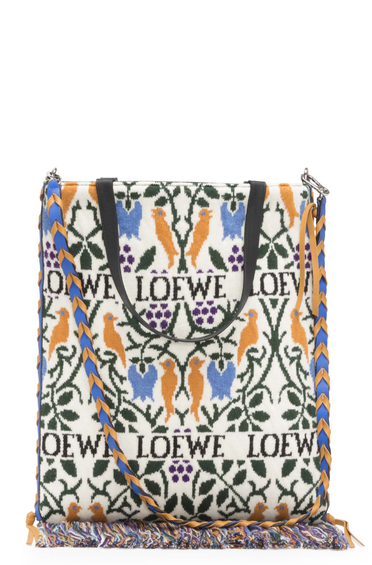 LOEWE Vertical Tote Botanical Bag Duke Blue/Amber front