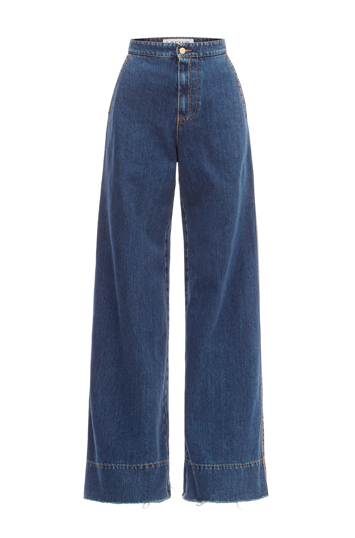 Cheap LOEWE Belted Flared Jeans RNYQKS on sale