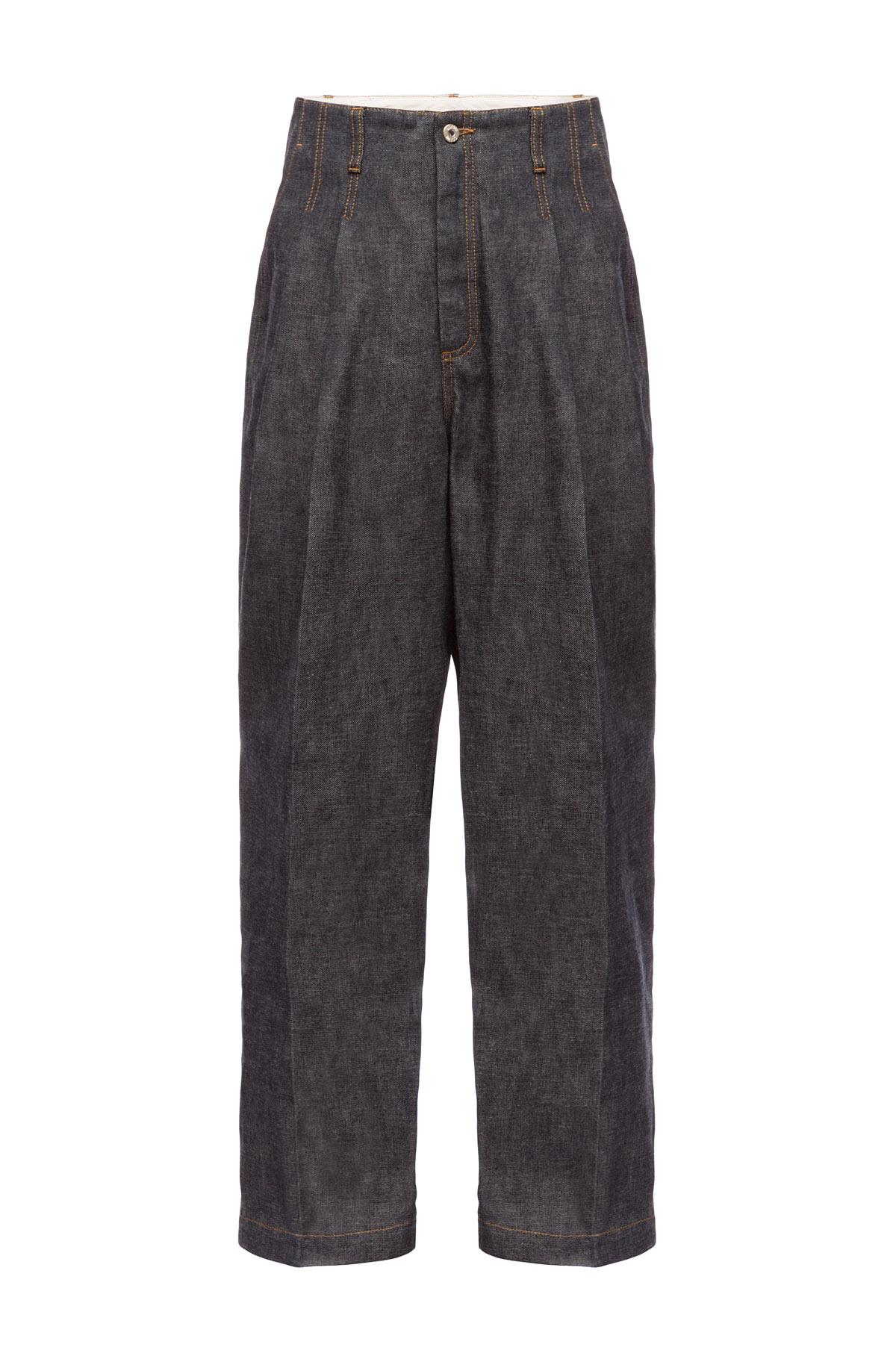 LOEWE Denim Trousers Botanical Navy Blue front