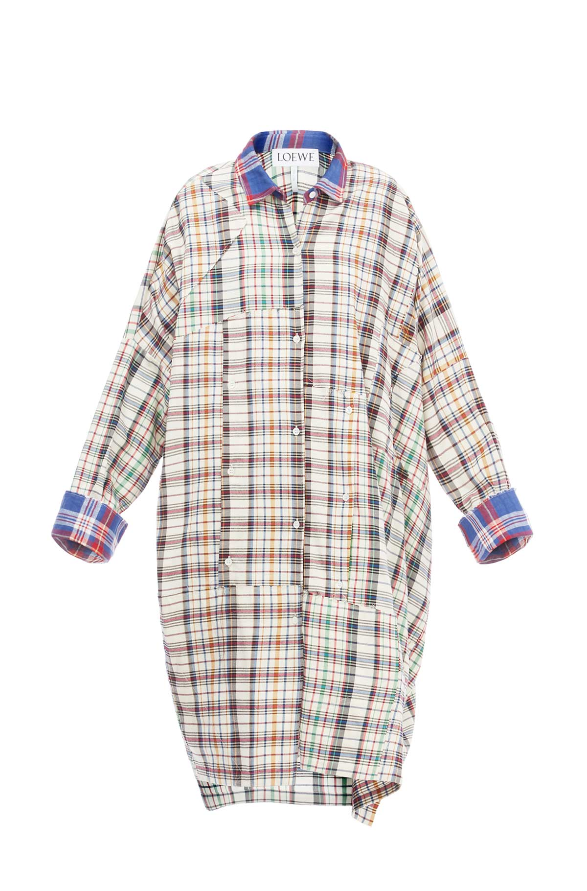 LOEWE Ov Check Shirtdress Multicolor front