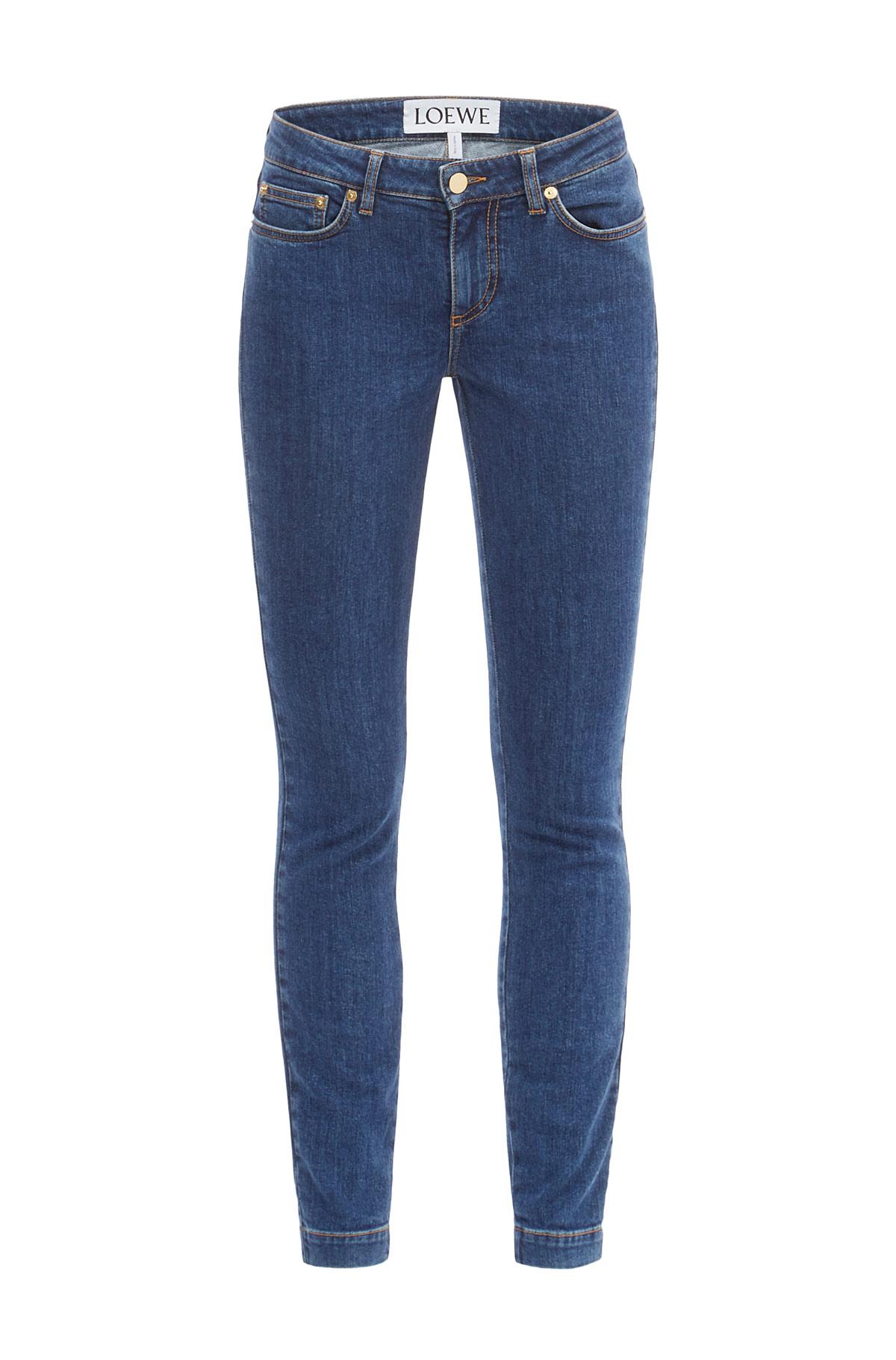 LOEWE Skinny Jeans Blue Denim front