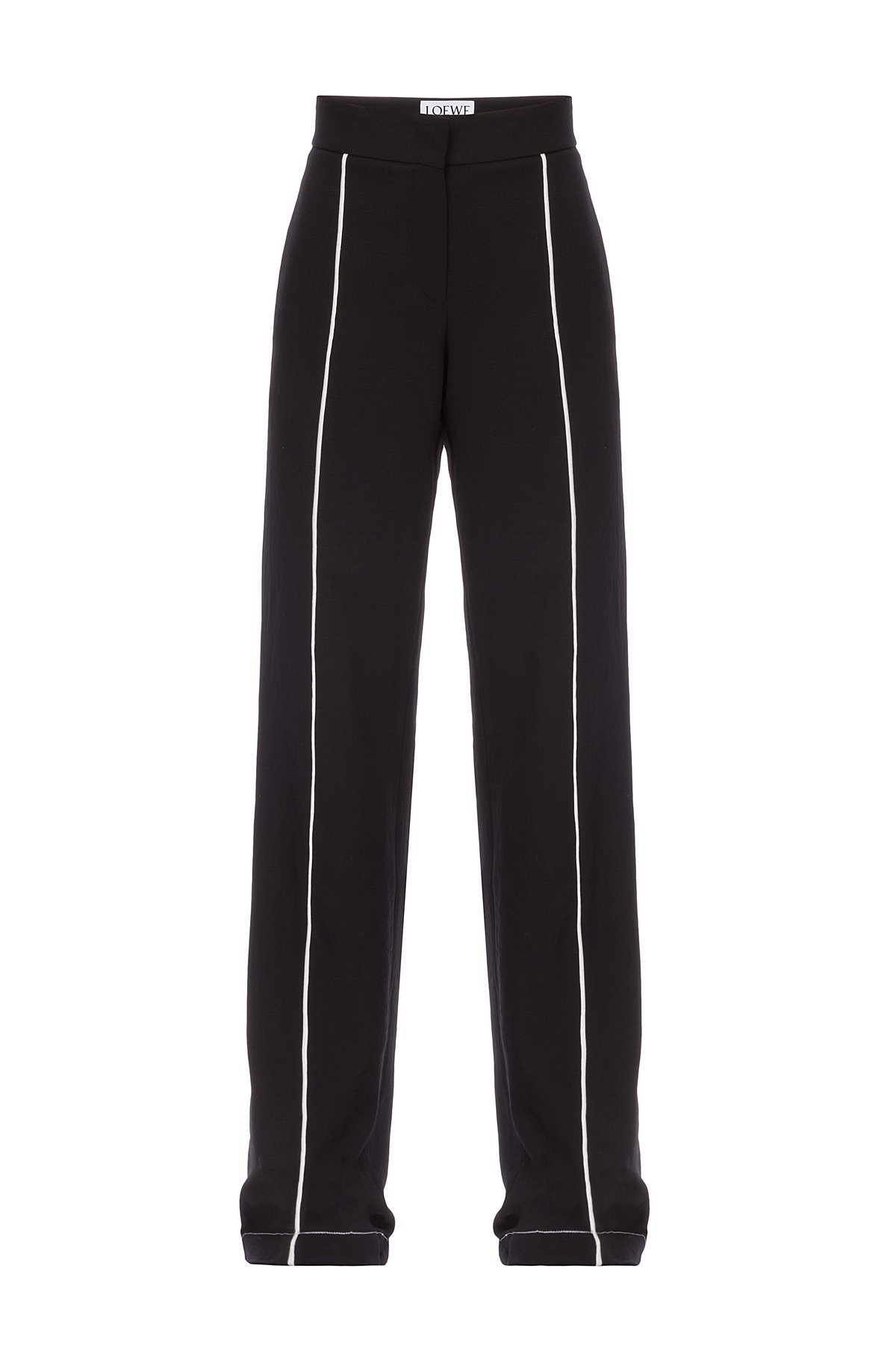 LOEWE Piping Trousers Black/White front