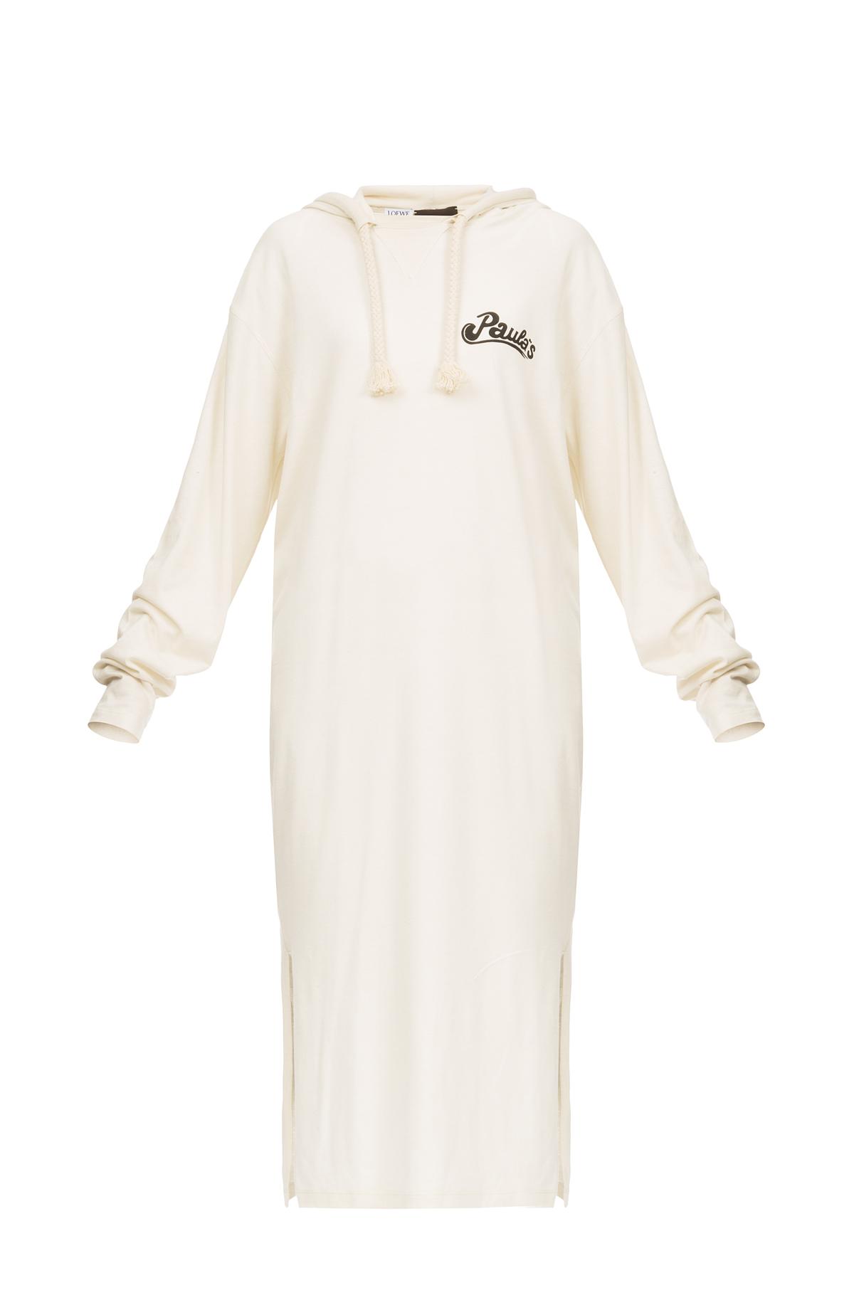 LOEWE Hoodie Dress Paula Calico front