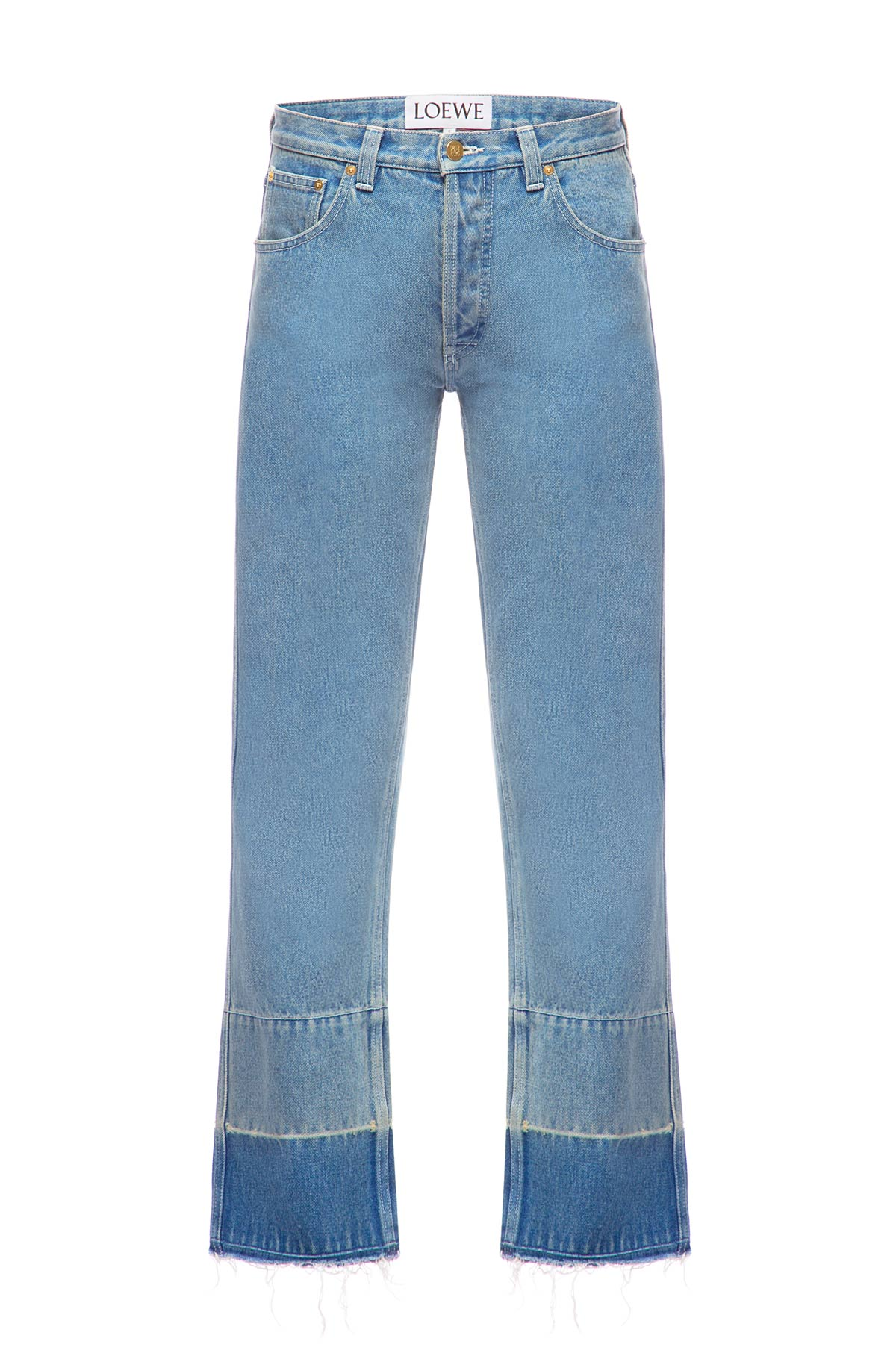 LOEWE 5 Pkt Jeans Faces Embroidery Indigo front