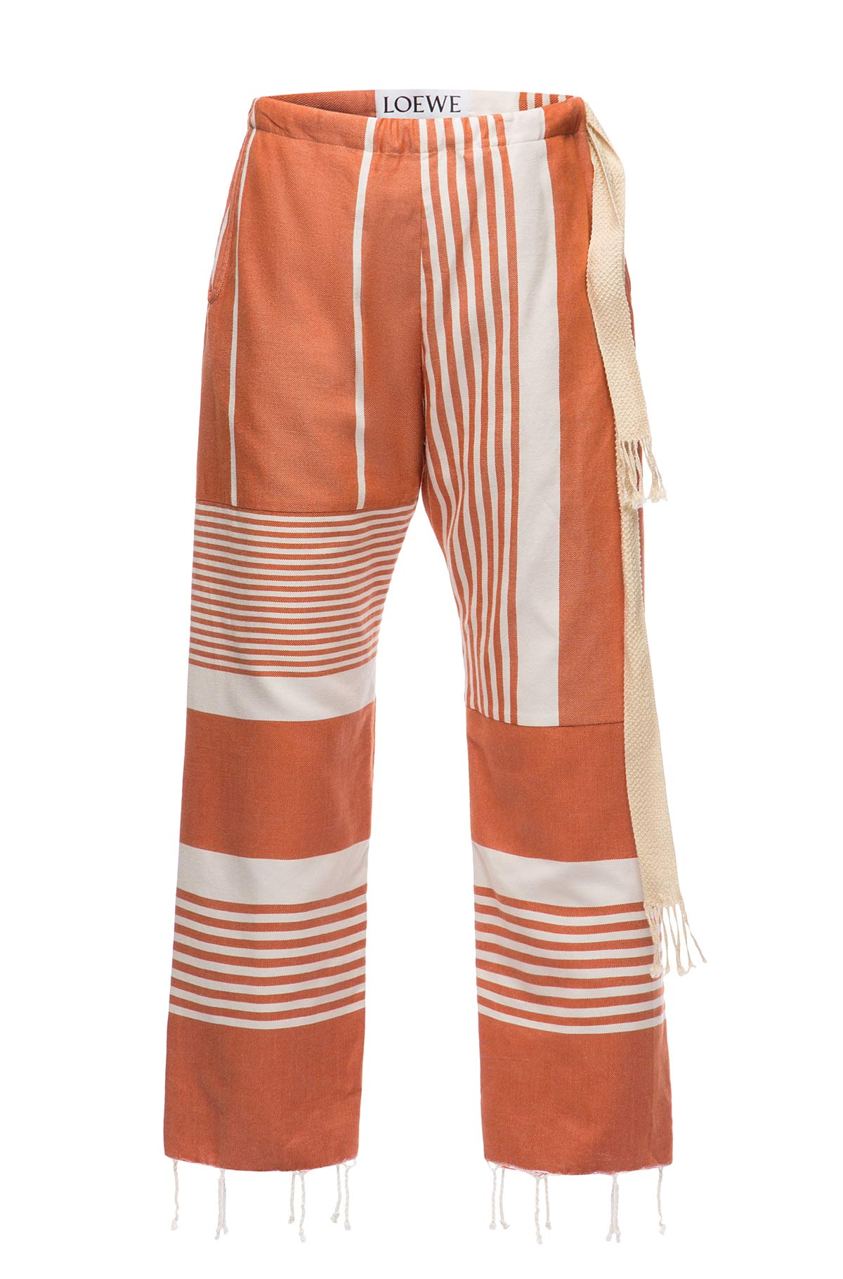 LOEWE Trousers Fouta Rojo/Blanco front