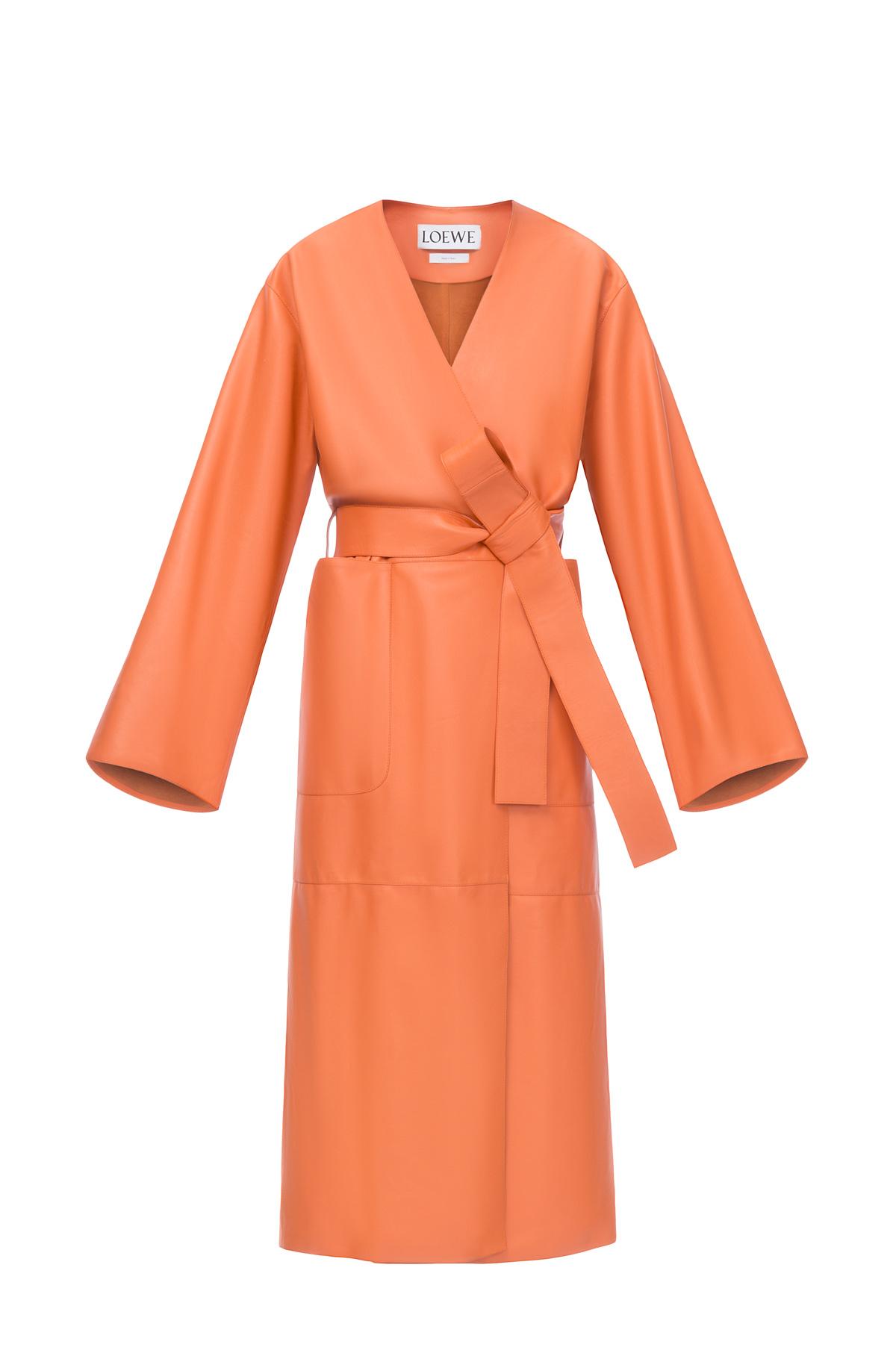 LOEWE Long Coat オレンジ front
