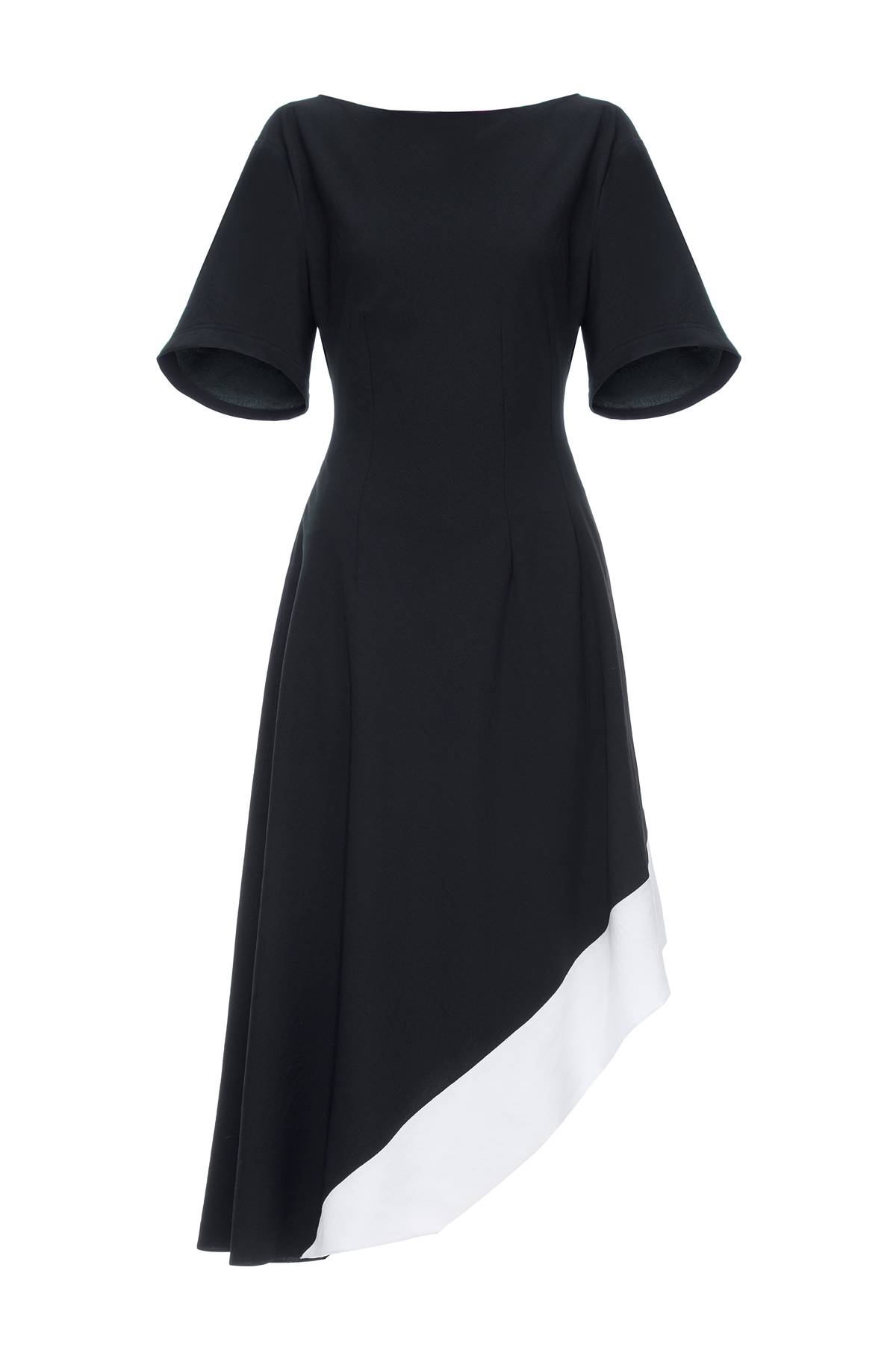 LOEWE Asymmetric Dress Black/White front