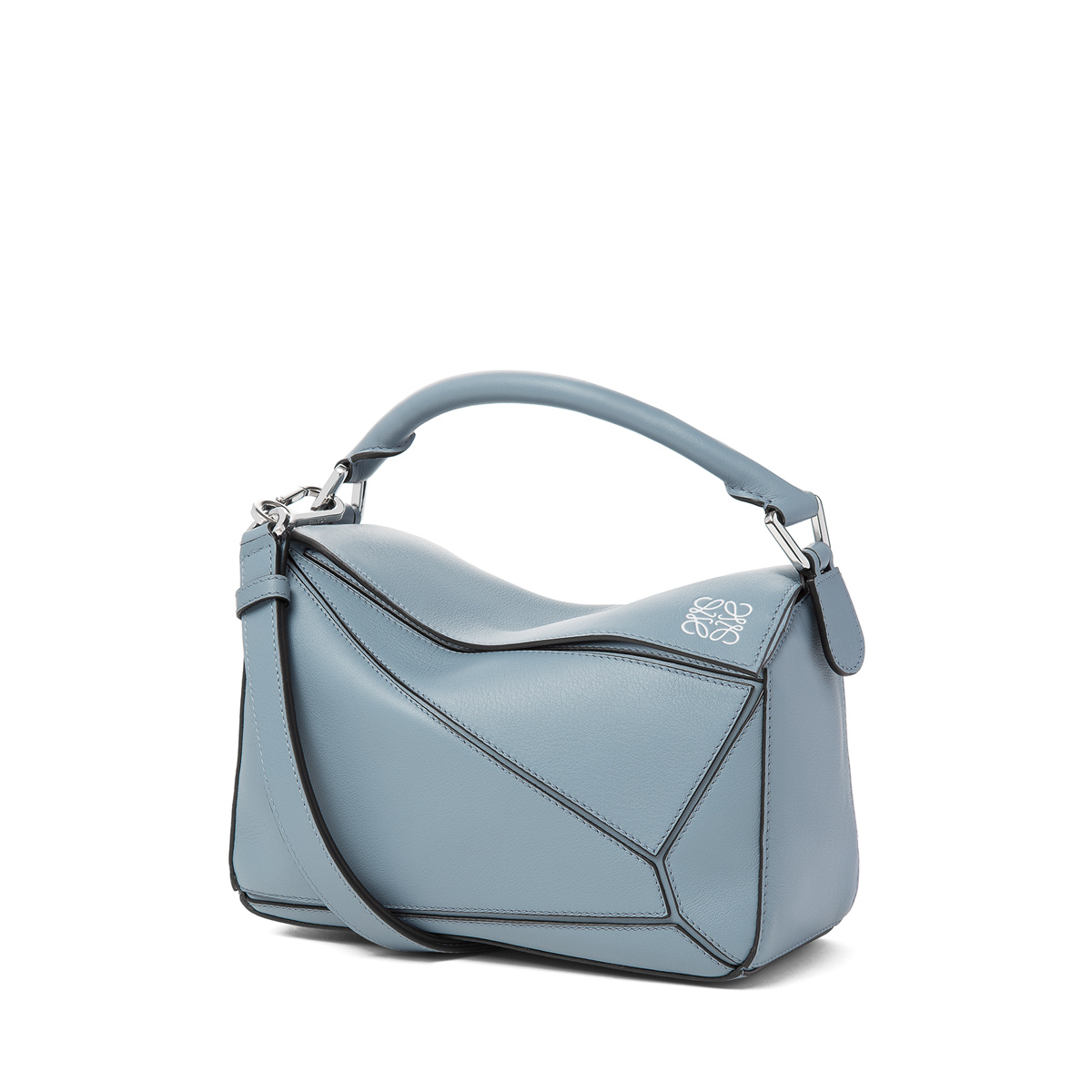 Puzzle Small Bag Stone Blue - LOEWE