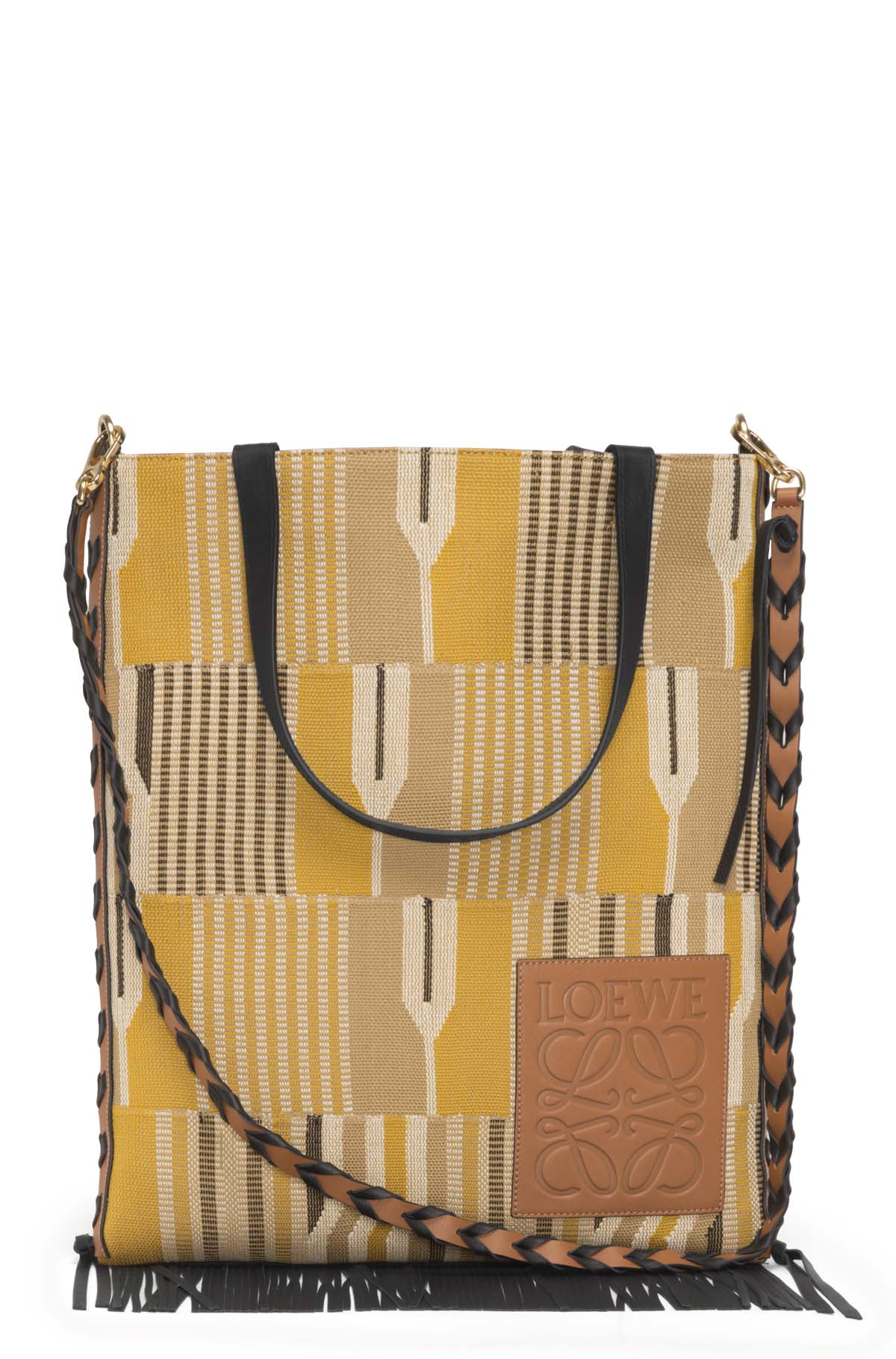 LOEWE Bolso Vertical Tote Geometrico Ocre/Negro front