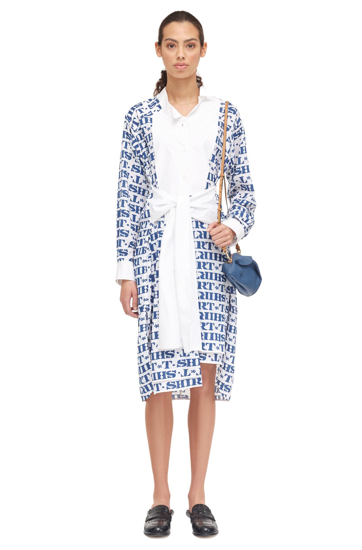 LOEWE Ts Shirtdress Blue/White front
