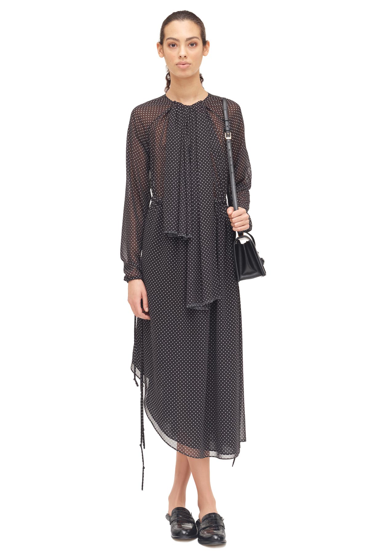 LOEWE Lavalliere Dress Black/White front