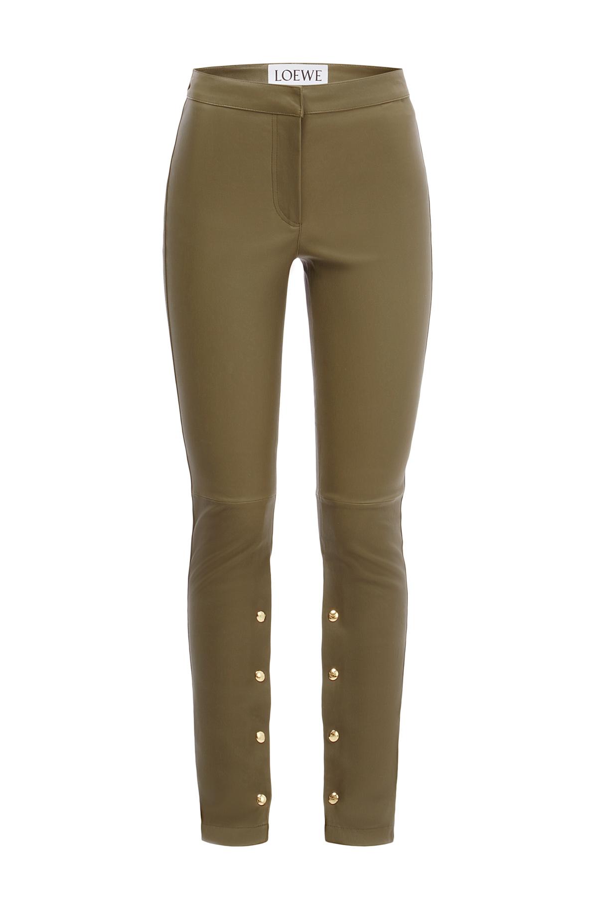 LOEWE Stretch Trousers Khaki Green front