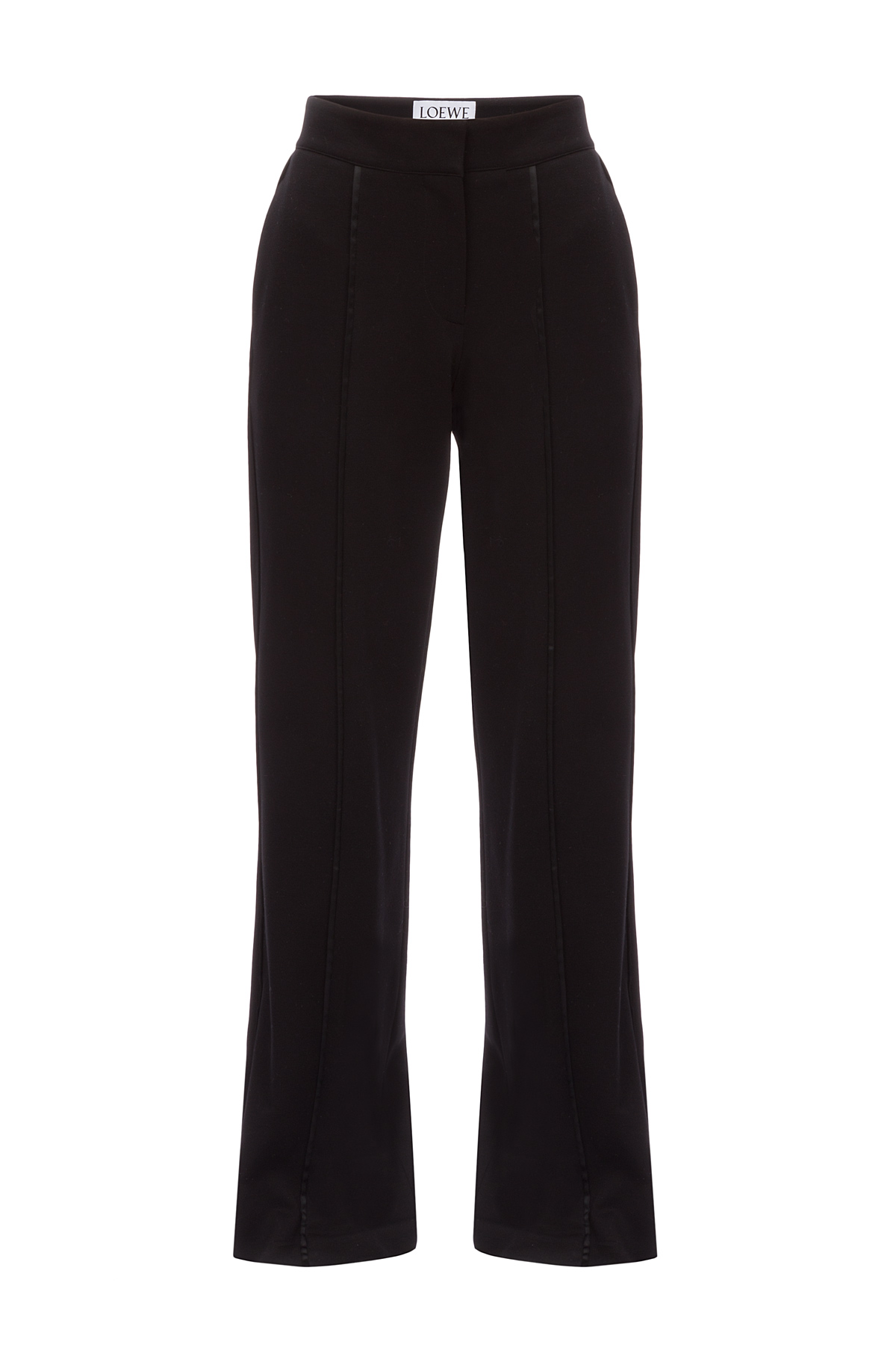 LOEWE Piping Jersey Trousers Black front
