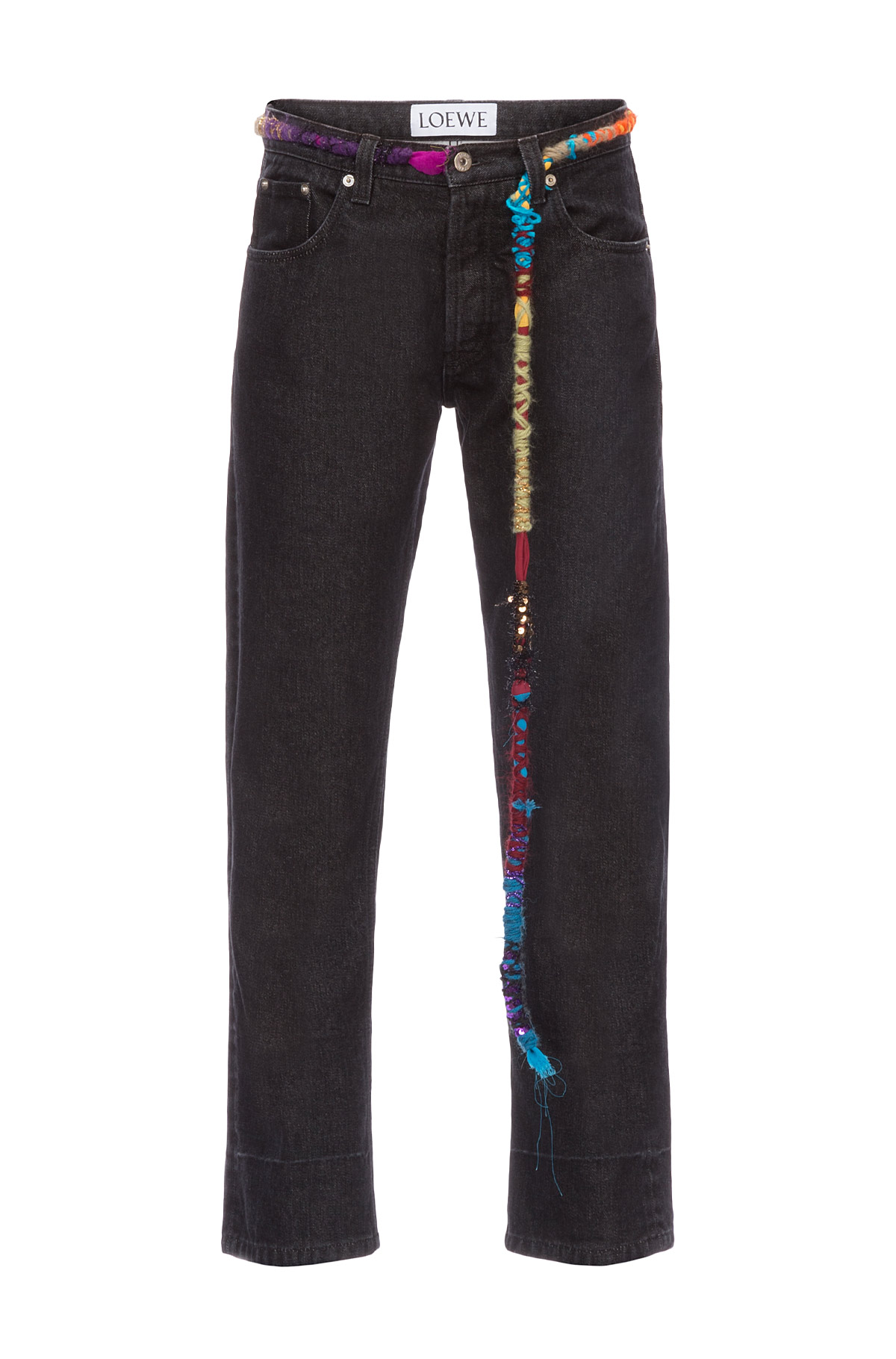 LOEWE Embroidered Knot 5 Pkt Jeans ブラック front